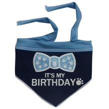 It's My Birthday Dog Bandana Scarf - Navy