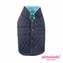 Jess Quilted Dog Vest by Pinkaholic - Navy