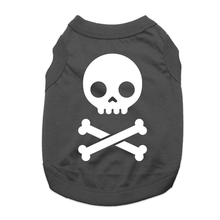 Skull and Bones Dog Shirt - Black