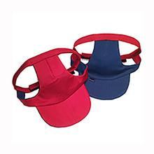 Joyful Bling Reversible Dog Visor - Blue and Red