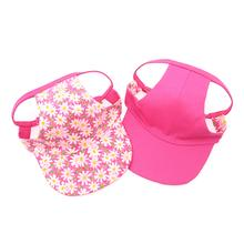 Joyful Bling Reversible Dog Visor - Pink Daisies