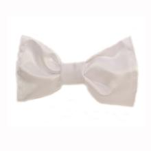 Joyful Bling Winter White Satin Bow Tie Dog Collar Attachment