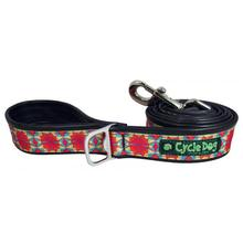 Kaleidoscope Pup Top Dog Leash by Cycle Dog - Red Orange