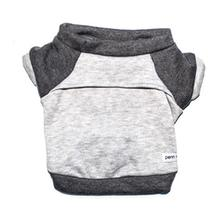 Kellan Dog Sweatshirt by Penn & Pooch - Deep Gray and Soft Gray