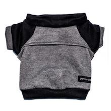 Kellan Dog Sweatshirt by Penn + Pooch - Gray and Black
