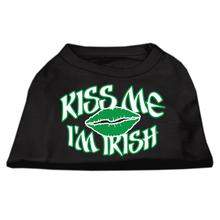 Kiss Me I'm Irish Dog Shirt - Black
