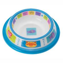 Kitty Parade & Mice Brights Designer Plastic Cat Bowl
