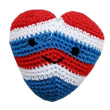Knit Knacks Hamilton the USA Heart Organic Dog Toy