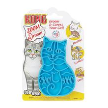 Kong Zoom Groom Rubber Pet Grooming Brush for Cats