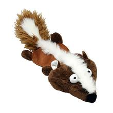 Krinkle Squeaks Dog Toy by Hip Doggie - Brown Badger