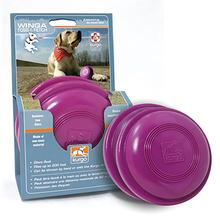Kurgo Classic Lawn Games Dog Toy - Winga Discs in Just Violet