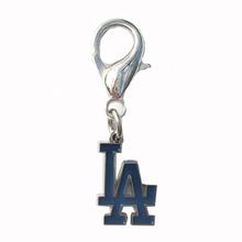 LA Dodgers Logo Dog Collar Charm