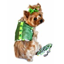 Cool Mesh Dog Harness - Green Ladybug
