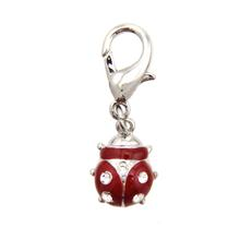 Ladybug D-Ring Pet Collar Charm by FouFou Dog - Red