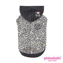 Leo Pug II Hooded Dog Shirt by Pinkaholic - Black