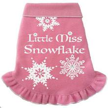Little Miss Snowflake Fleece Dog Pullover - Pink