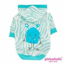 Little Monster Hooded Dog Shirt by Pinkaholic - Aqua