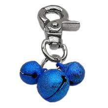 Lobster Claw Bell Collar Charm - Blue