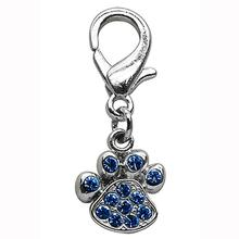 Lobster Claw Paw Print Dog Collar Charm - Blue
