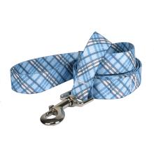 London Plaid Dog Leash by Yellow Dog - Light Blue