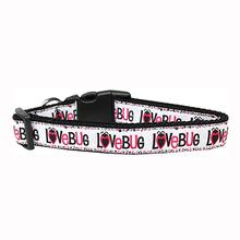 Love Bug Nylon Dog Collar - White