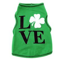 Love Shamrock Dog Tank - Green