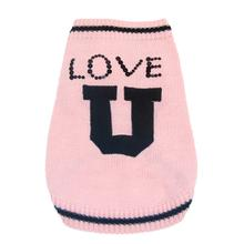 Love U Dog Sweater by Oscar Newman - Pink