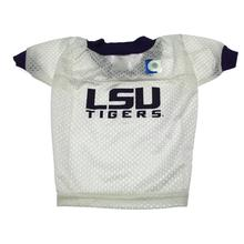 LSU Tigers Collegiate Dog Jersey - White with Purple Trim