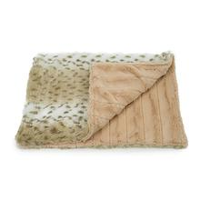 Luca Cuddle Mat Dog Bed - Snow Leopard with Tan Chinchilla
