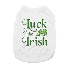 Luck of the Irish Dog Shirt - White