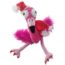 Lulubelles Holiday Power Plush Dog Toy - Santa Flo Rida Flamingo
