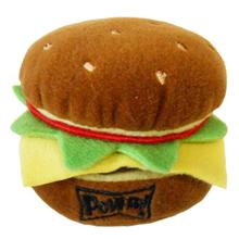 Lulubelles Power Plush Dog Toy - Hamburger