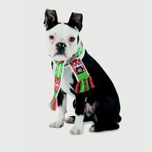 Lumi's Dog Scarf - Snowflake and Striped