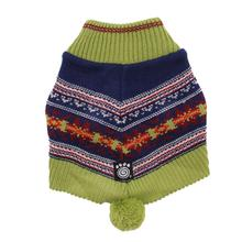 Luna's Bohemian Dog Poncho - Navy and Green