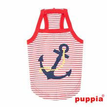 Mariner Dog Tank by Puppia - Red