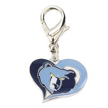 Memphis Grizzlies Swirl Heart Dog Collar Charm