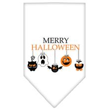 Merry Halloween Dog Bandana - White