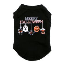 Merry Halloween Dog Shirt - Black