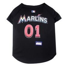 Miami Marlins Officially Licensed Dog Jersey - Black