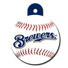 Milwaukee Brewers Engravable Pet I.D. Tag - Circle