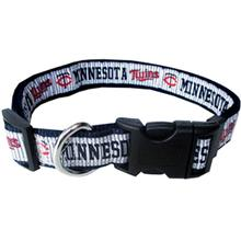 Minnesota Twins Officially Licensed Ribbon Dog Collar