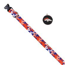 Denver Broncos Team Camo Dog Collar and Tag by Yellow Dog