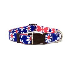 Mix and Match Daisy Dog Collar by Yellow Dog - Royal and Red