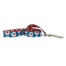 Mix and Match Daisy Dog Leash by Yellow Dog - Teal and Red