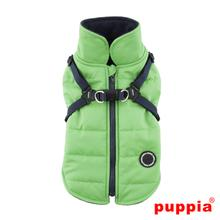 Mountaineer II Fleece Dog Vest by Puppia - Green