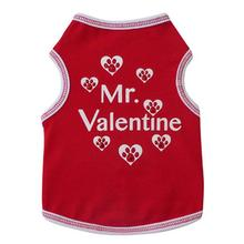 Mr. Valentine Dog Tank - Red