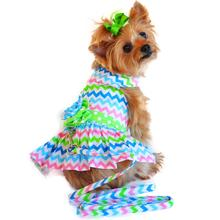 Chevron Designer Dog Harness Dress