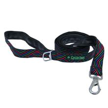 Multi Black Diagonals Pup Top Dog Leash by Cycle Dog