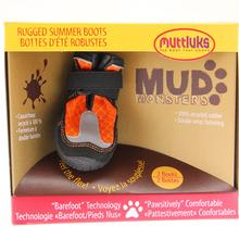 Muttluks Mud Monster Dog Boots - Orange with Reflective Trim - Set of Two