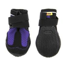 Muttluks Mud Monster Dog Boots - Purple with Black Trim - Set of Two